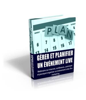 Gérer et planifier un évènement live